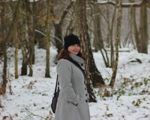 Lu in a snowy wonderland