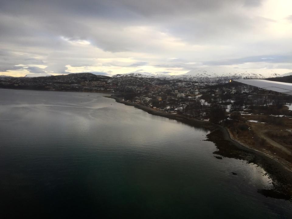 Flying into Tromso
