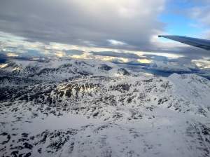 Flying to Tromso - stunning scenery