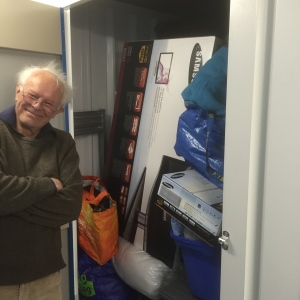 Everything finally in with Dad's help, will the door shut?!