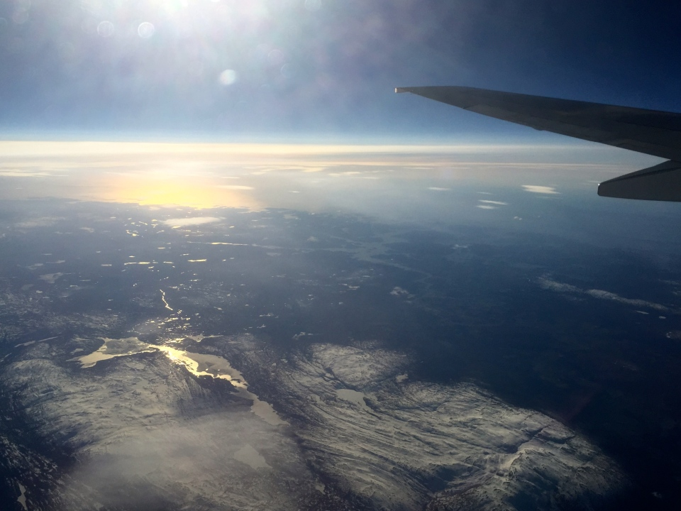 Flying over Norway, lovely view