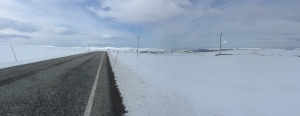 Road to Nordkapp, pretty snowy