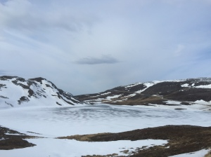 Frozen lake on way to Nordkapp
