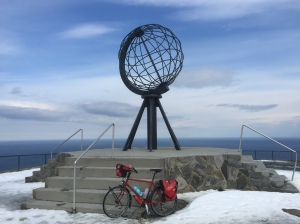 Nordkapp - Smaug made it - that's the name of my bike, from Oxford Bike Works