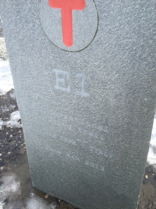 Eurovelo 1 marker stone