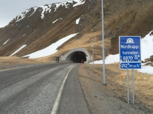 Nordkapp tunnel entrance