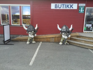 Olderfjord campsite troll guards