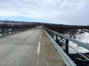 Bridge crossing - more Arctic Tundra on the menu