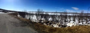 Frozen lake panorama - lot of them about