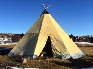Arctic Mobil campsite in Kautokeino - Sami tipi for the night