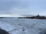 River crossing to Sweden - Karesuando church looming