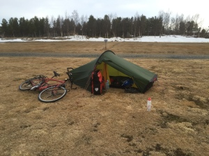 Tent pitched, Hilleberg Akto doing well