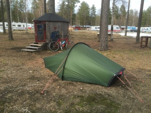 Camping at First Camp in Lulea