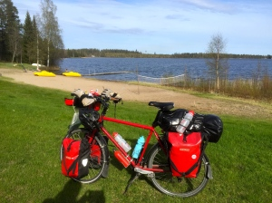 End of today's ride at Mosjon campsite
