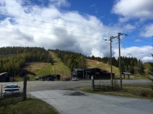 Ski slope without the snow