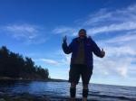 Beachside double thumbs up