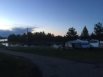 The campsite, pretty quiet