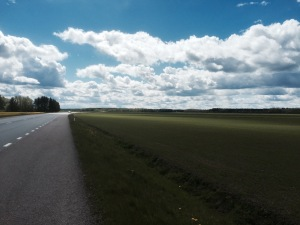 Road to Uppsala, getting flatter