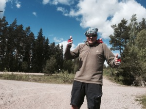 Double thumbs up for nearly being in Uppsala