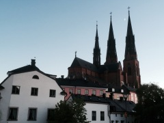 Another shot of the Cathedral, with the moon between the spires