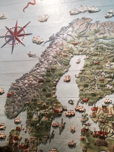 Map from Vasa museum - I've pedalled a long way
