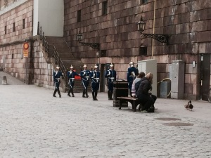 Swedish Guard on the march