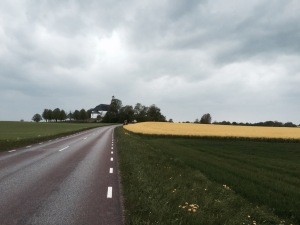 Bad weather sets in as I cycle through Vaderstad