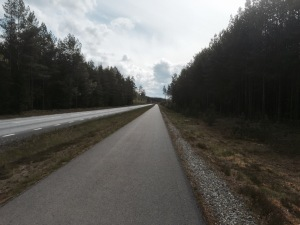 Some great cycle paths alongside deserted roads