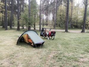Set up at Varnamo camping