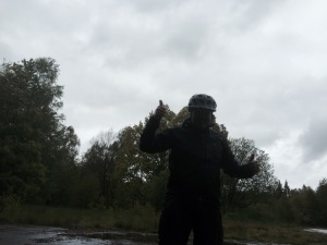 Double thumbs up despite the conditions