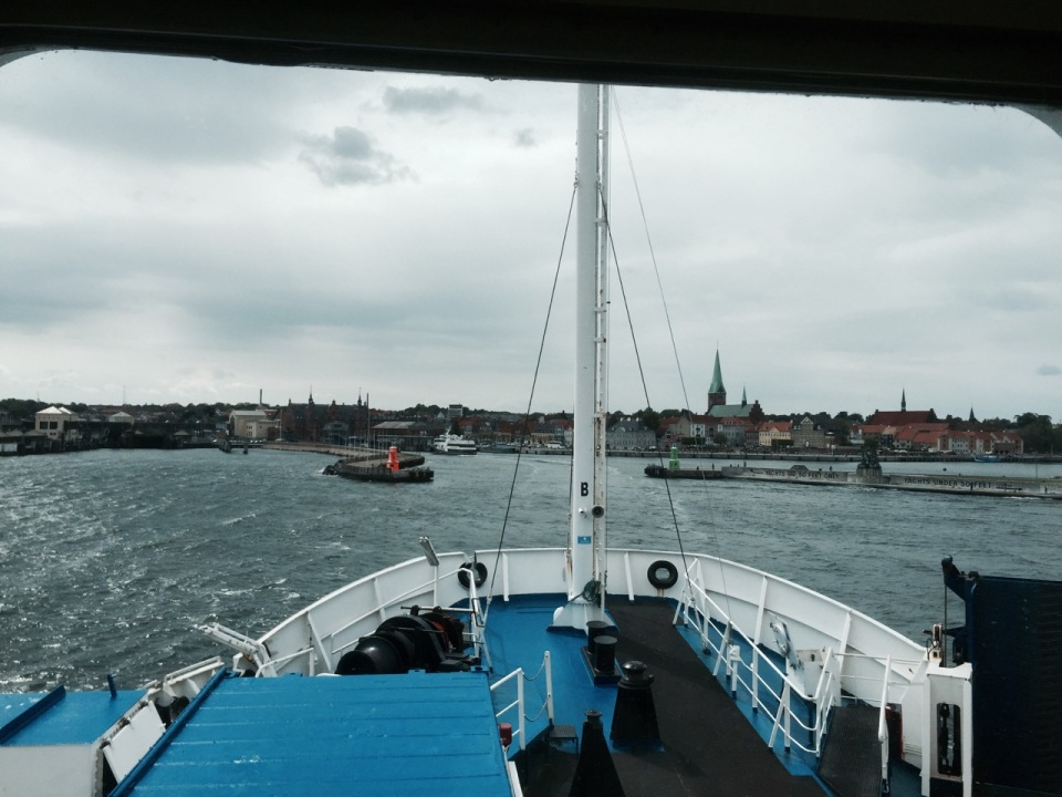 Approaching Helsingor harbour