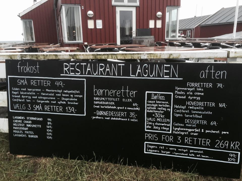 Restaurant Lagunen menu