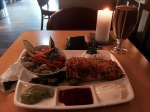 Dinner at Cafe Vivaldi - Burrito boost