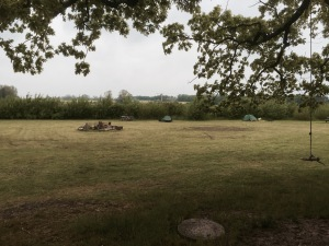 Morning at Koge campsite - dry at the moment