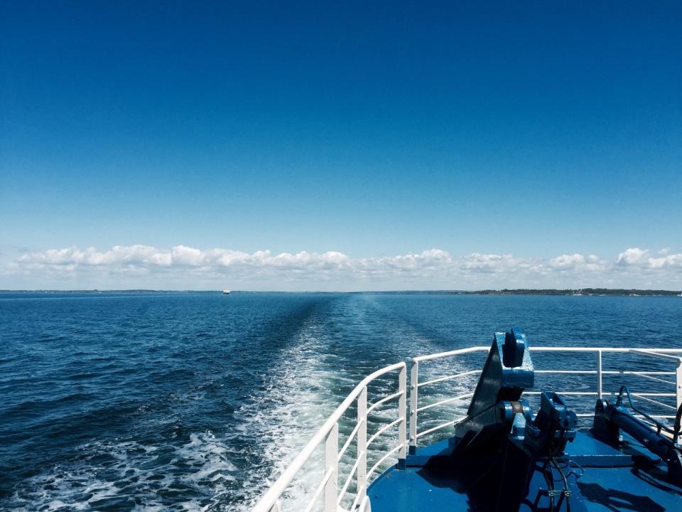 Ferry - looking back to Bojden