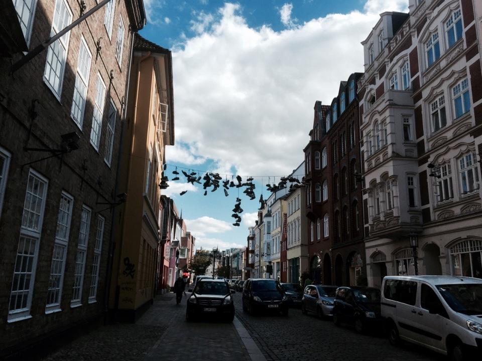 Flensburg - shoes a dangling