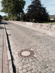 German roads often cobbled through villages
