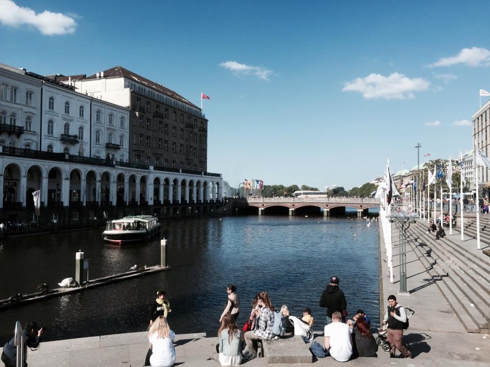 Hamburg Centre - lots of waterways