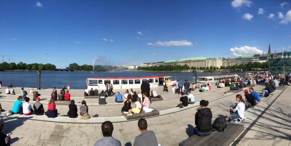 Hamburg central lake - Binnenalster I think
