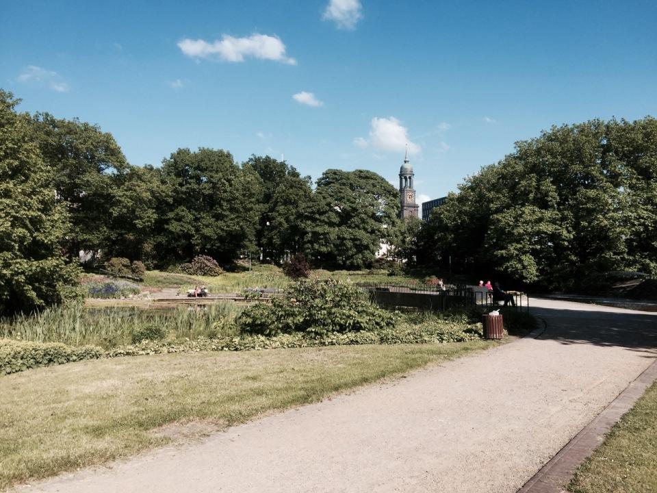 One of Hamburg's many parks