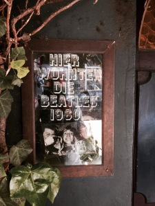 Beatles house - plaque showing they live here