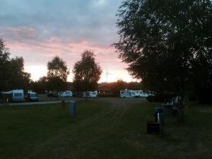 Nice sunset at Stadtwaldsee