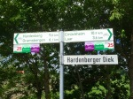 First Holland cycle sign post