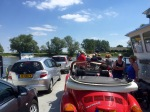 Small €1 car ferry over to Bronkhorst