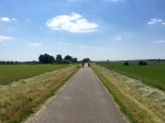 Wonderful cycle path alongside the river IJssel