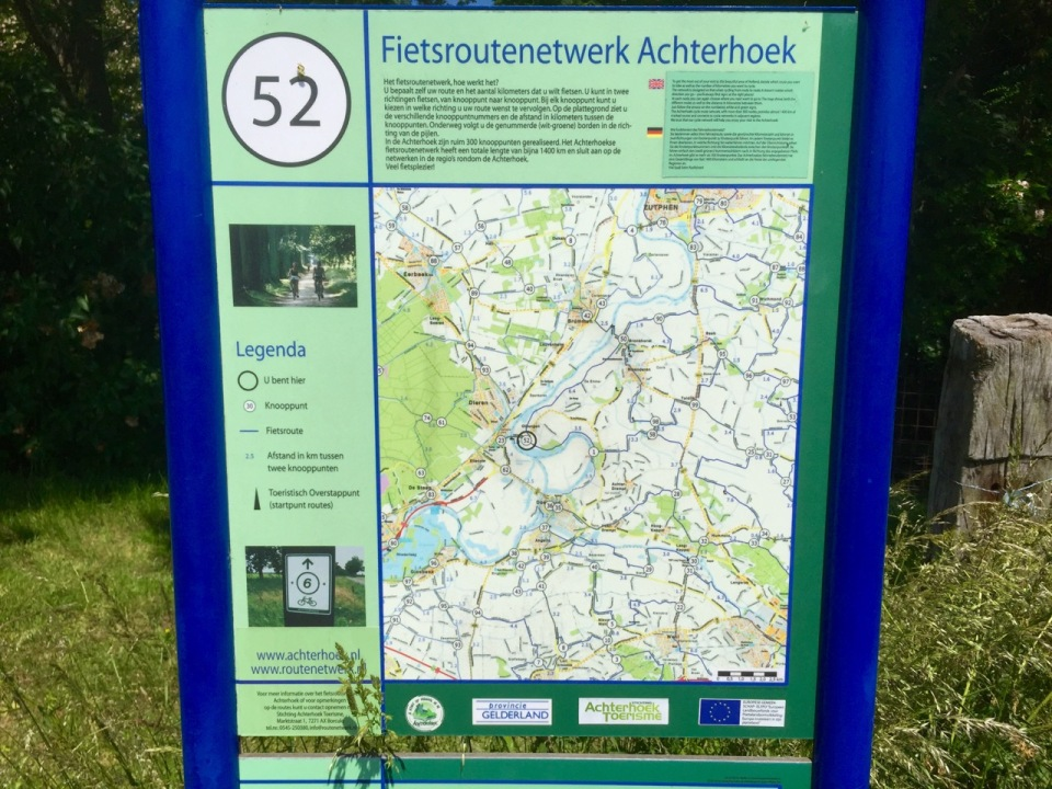 Danish cycle network sign/map