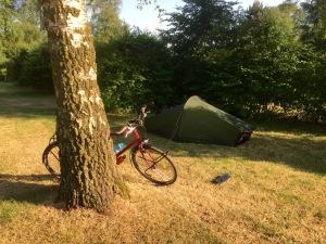 Solitary camper at site near Alverna