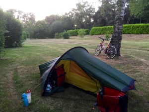 Set for another night under canvas in Alverna
