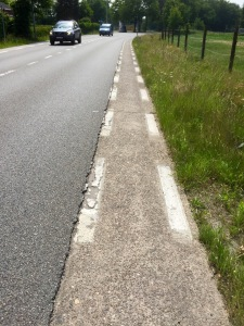 Cycle paths not so good in Belgium