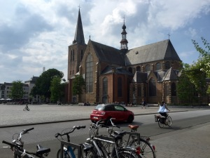 Central square and church in Turnhout